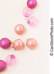 Christmas pink ornament minimal
