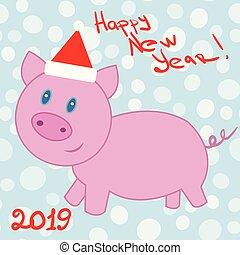 Christmas pink pig.
