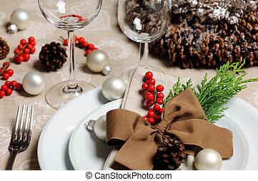 Christmas place setting
