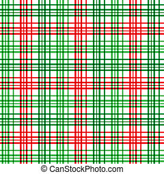 Christmas Plaid - A plaid background pattern in Christmas...