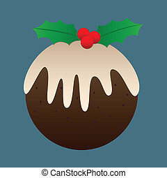 Christmas Plum Pudding - Christmas plum pudding design...
