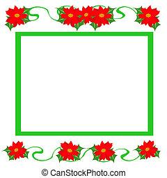 Christmas poinsettia frame