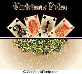 Christmas Poker Happy 2015 new year