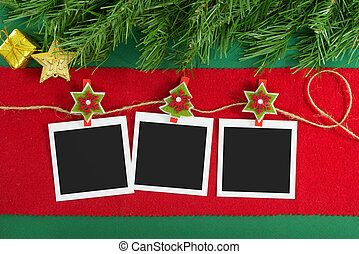 Christmas polaroid photo frames - Polaroid photo frames...