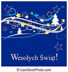 Christmas polish vector card