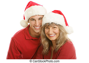 Christmas Portrait - Mom and Son
