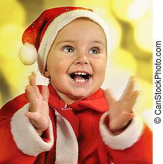 Christmas portrait of a child clapp