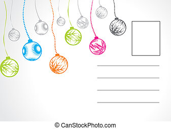 christmas post card with space of your text, illustration
