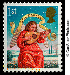 Christmas Postage Stamp - UNITED KINGDOM - CIRCA 2007: A ...