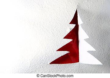 christmas postcard from the paper in red and white