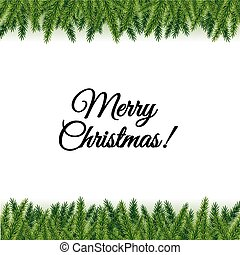 Christmas Postcard With Tree Branches