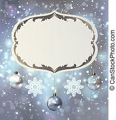 Christmas poster - glimmered Christmas poster with evening...
