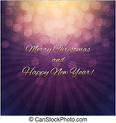 Christmas Poster With Bokeh