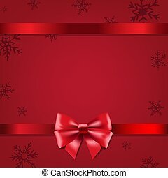 Christmas Poster With Bow