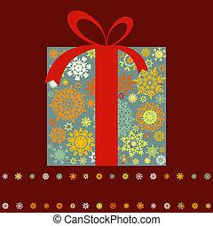 Christmas present box, multicolor. EPS 8