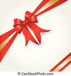 Christmas Present Box Ribbon Vector Image