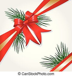 Christmas Present Box Ribbon Vector Image