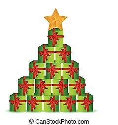 christmas present box tree