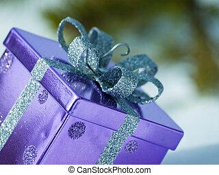 Christmas Present - Christmas present in virgin snow.