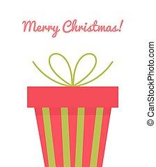 Christmas present greeting card