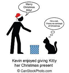 Christmas Present - Kevin gave Kitty her Christmas present...