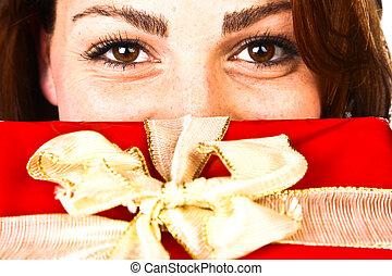 Christmas Present Woman