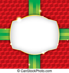 Christmas Present Wrapping Paper Background - A wrapped...