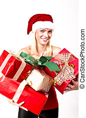 Christmas Presents Blond Girl