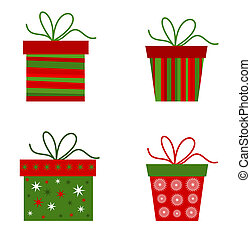 Christmas presents collection. Vector illustration