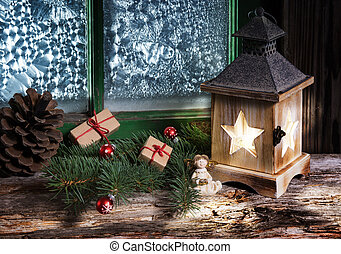 Christmas presents in Christmas decoration
