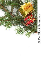 Christmas presents on a tree