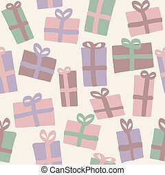 Christmas presents seamless pattern