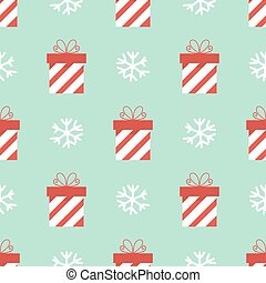 Christmas presents seamless pattern. Vector illustration