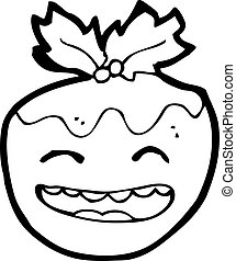 christmas pudding cartoon character