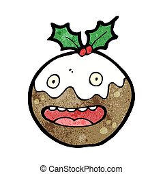 christmas pudding cartoon character