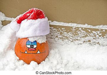 Christmas pumpkin