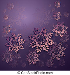 Christmas purple background with snowflakes.