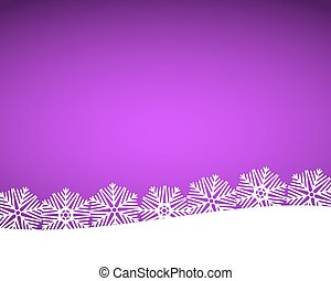 Christmas purple background with snowflakes