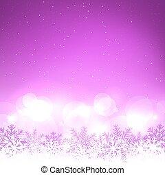 Christmas purple snow background