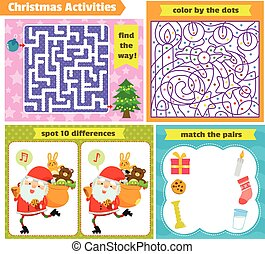 set of puzzle games for Christmas
