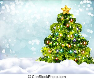 Christmas Realistic Background