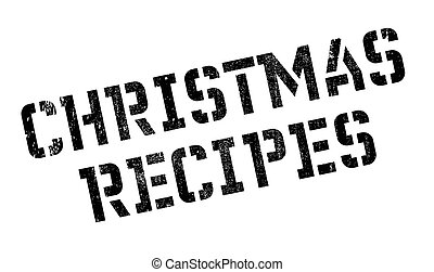 Christmas Recipes rubber stamp