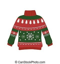 christmas red and green ugly sweater party decorative