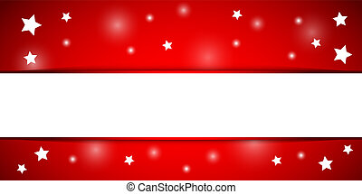 Christmas red and white background with white stars