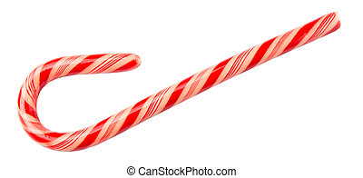 Christmas Red And White Candy Cane - Traditional Christmas...