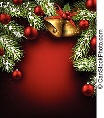Christmas red background. - Christmas red background with...