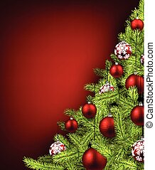 Christmas red background.