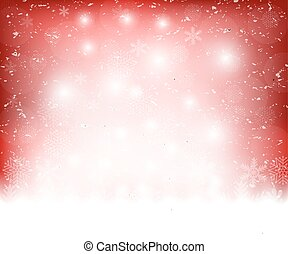 Christmas red background snowflakes