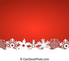 Christmas red background, vector illustration