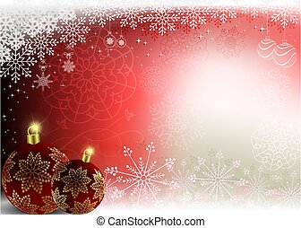 Christmas red background with Christmas burgundy balls.